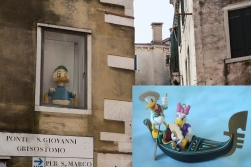 We are not the first couple on a romantic tour of Venice. Donald and Dolly Duck made it before us - but unfortunately one of their nephews got trapped in a window and was left behind.
