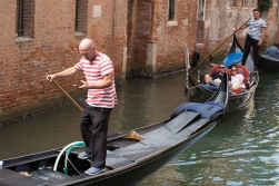 Most of Venice stays the same, but there are changes when you look close. In Donald's days as a gondolier, he did not spend his time on his smart phone.
