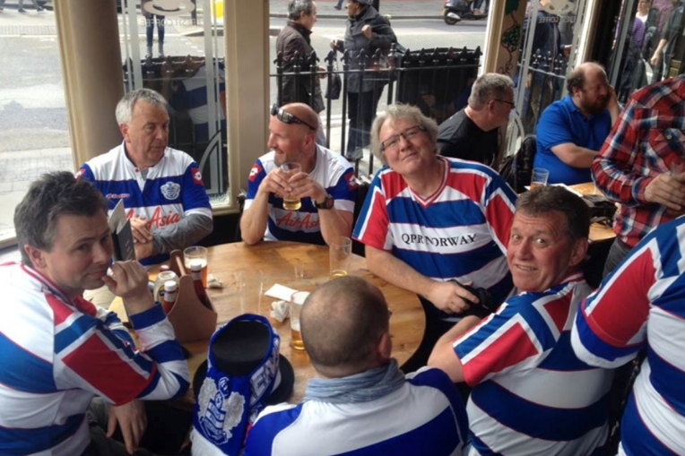 Norwegian QPR-fans at The Green Pub
