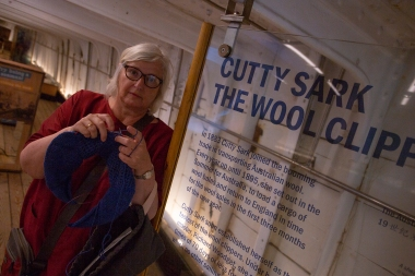 The Cutty Sark was built for the tea trade from India, but ended up shipping wool from Australia. According to ES, this was a change for the better!