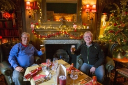 DHH in Winston Churchill's local pub with his Norwegian friend Tom.