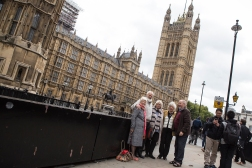 It pays to have friends in high places. Jackie Morris (far left) organized a private tour of Westminster for us.