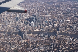 The Shard is 310 metres high. We are happy to say that the plane flew even higher