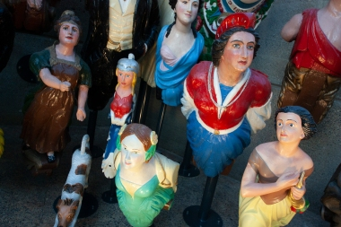 London has a museum of more or less everything. This is a collection of figureheads of sailing ships