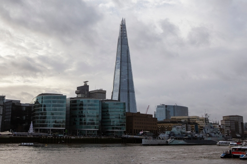 The Shard seen from river level