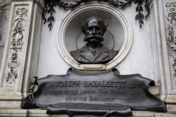 Another hero on public display. Joseph Bazalgette created the sewer network for central London, for which we should all be grateful. City life was not so idyllic for those who experienced what is now known as the Great Stink of 1858. Thanks to Bazalgette, the smell is a bit better nowadays