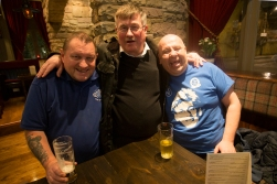 The man in the middle, our good friend Bill, sadly passed away during the summer after our season in London. He is very much missed.