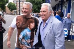 Gerry Francis, in the blue jacket, is QPRs only England captain. So far, that is.