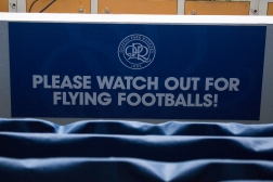 A warning to the opposition goalkeeper!