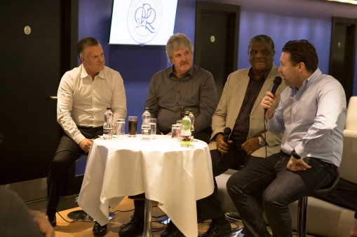 Sharing old dressing room secrets, Andy Sinton, Phil Parkes, Bob Hazell and Kevin Gallen
