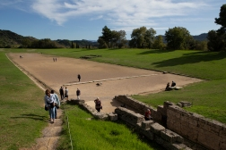 The original Olympia stadium, where the games were introduced in 776 BC and kept going for roughly 1000 years.