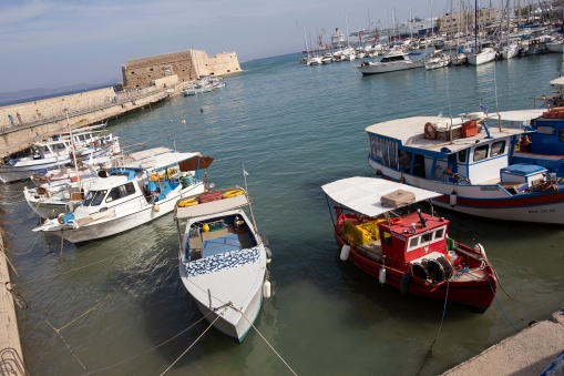 Heraklion. The Venetian fortress in the background dates from the early 16 century.