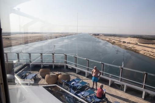 Entering the Suez canal.
