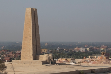 The Suez Canal has been the focus of several armed conflicts, the latest being when the canal was closed for 8 years following the 1967 Six-day-War. This is a monument to an earlier incident, the raid on the Suez Canal in 1915 when a German-led Ottoman Army force advanced from Palestine to attack the canal, then controlled by the British.
