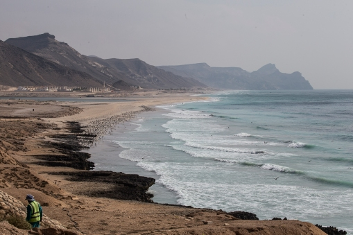 The rocky southern coast of Oman.