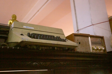 On display in the museum are objects given to the temple - not to be used or sold - but to be shown to the public. As journalists we felt at home when we discovered typewriters, radios and cameras on display.
