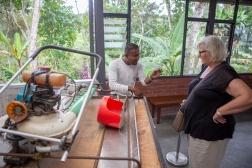 Our excellent guide Jai explaining the tea production.
