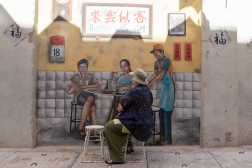 Ipoh is full of street art made in such a way that a visitor can make herself part of it.