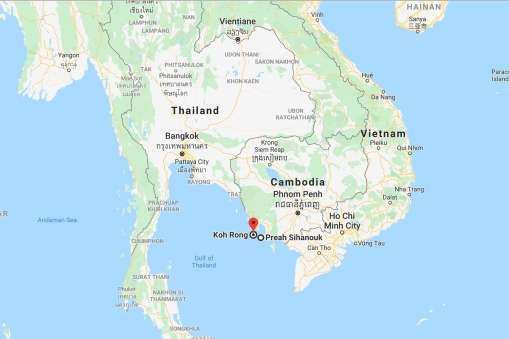 Koh Rong is a rather small Cambodian island in the Gulf of Thailand. The nearest town is Preah Sihanouk, better known as Sihanoukville, a little less than an hour away on a fast boat.
