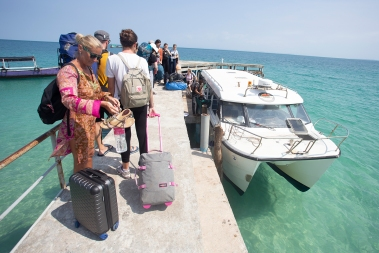 ...and no, the ferry from Koh Rong to the mainland was not on time either...