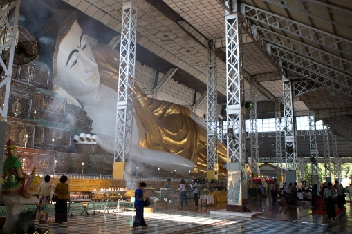 Bago is also the home of the The Shwethalyaung Buddha, a reclining statue 55 meters long.