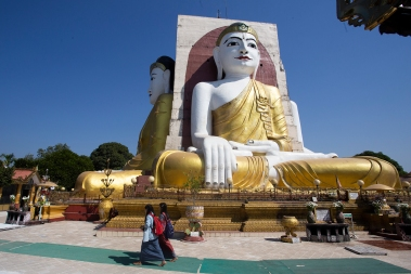 The Four Seated Buddha shrine, also in Bago