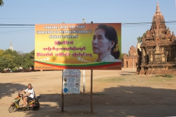 Aung San Suu Kyi may have lost most of her status in the west, but she is widely celebrated across her home country.