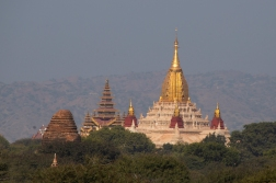 The Amada temple, first built in 1105, is the best looking monument in Bagan.