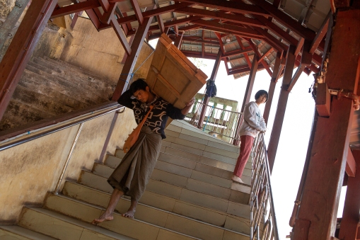 We did the stairs for sightseeing, others do it for work!
