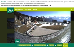 The webcam at our village plaza tells it all. Normally this area is packed with tourists enjoying the view of the Alps. We are very happy that our grocery shop, seen straight below the camera, is still open.