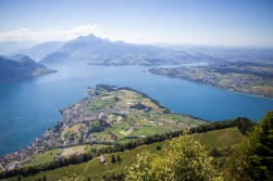 This splendid view is just 12-15 minutes walk from home. Our nearest proper city, Luzern, can be seen at the bottom of the bay to the upper right.