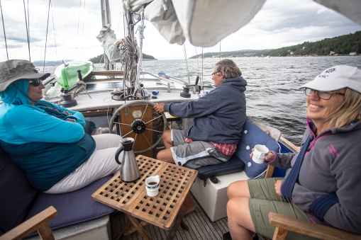 A mini cruise on the Oslo fjord with good friends, one of the few outings we were able to do during our semi-down locked summer.