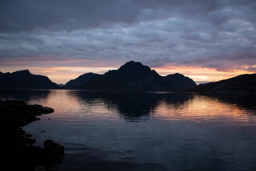 Our view of the Lofoten sunset.