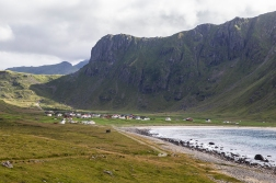 The surfer's haven, the village of Unstad, Vestvågøy.
