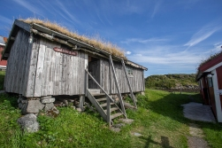 At the Lofotmuseum near Kabelvåg, Austvågøya. Skrovabua, built in Skrova in 1797, is a cabin used for the fishermen who took part in the annual Lofoten Winter fisheries.