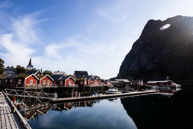 At the village of Reine at Moskenesøy