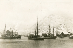 DHH's grandfather took part of the Lofoten winter fisheries for 50 years. This postcard from the Skrova harbor anno 1930 is lifted form his photo album.