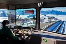 Taking the mountain train down to town!